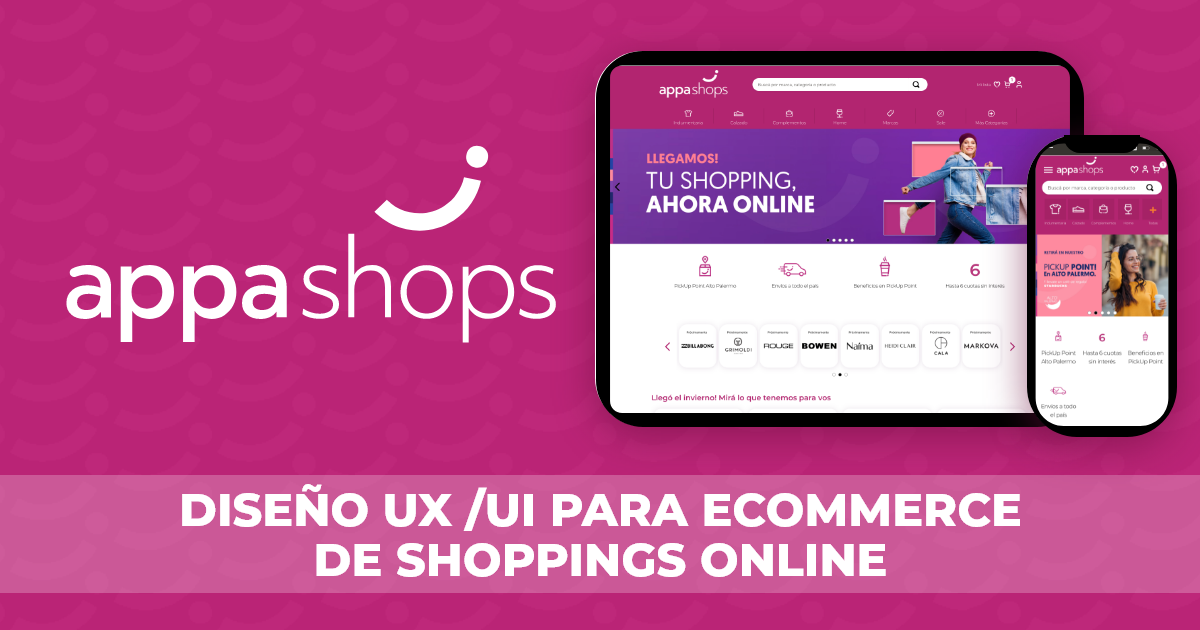 Appa Shops Diseño UX/UI para ecommerce de shoppings online