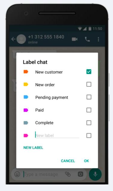 Labels en Whatsapp Business